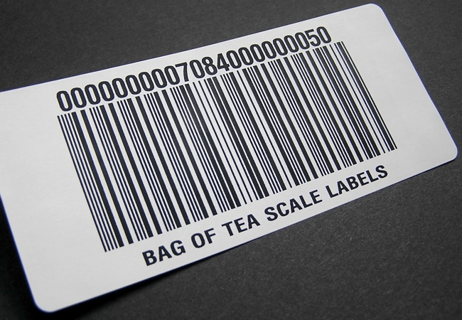 Label with barcode