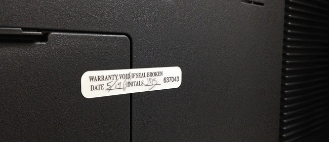 Gaming Computer VOID Label