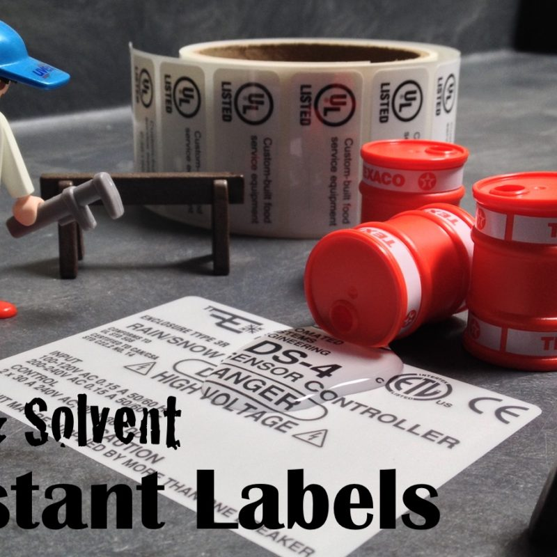 Water Resistant Labels