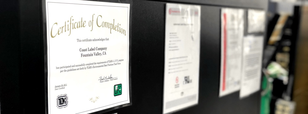 Coast Label Company's L.I.F.E.® Certification